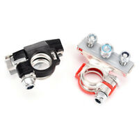 2X Car Black Red Battery Terminals Metal Replacement Clamp Electric Connector MW