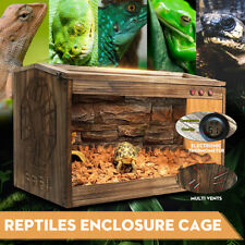 Large Wooden Reptiles Cage Terrarium Reptile Snake Insect Spider Tarantula