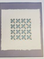2 Judy Severson Quilt Embossed S/N Prints 16x20 Tulip Heart Morning Glory Wreath