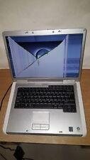 "Laptop Notebook Dell Inspiron 1501 Plata 15.4"" 1 GB 60 GB Piezas pantalla destrozada"
