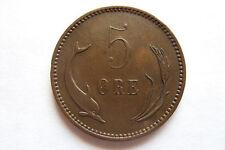 Rare 1906 - 5 ORE - DeNMARK DaNMARK Krause КМ# 794.2 Coin XF+ Original