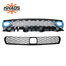 Dodge Charger Upper Lower Grille w/ Adaptive Cruise Includes Bezel PQD B5 Blue