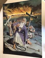 Large 1950's/Early 60's Walter Ohlson Bethel Series Pop Art Bible School Poster