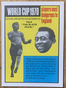 Pele Learn The Game 1970 Anglo Confectionery Trade Card Brazil #38 Mexico 1970