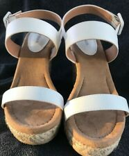 Womens Style & Company White Wedge Sandals Size 7