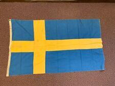 New listing Vintage Sweden, Annin Defiance, 3 X 5 Flag on Cotton Cloth