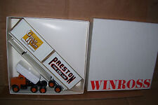1983 Preston Trans Ocean Gold Rush Winross Diecast Flat Bed Truck w/ Containers