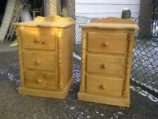 Handmade Pine Bedside Tables & Cabinets