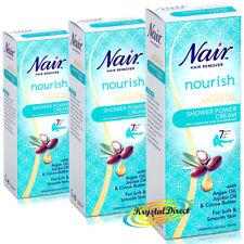 3x Nair Argan Oil Shower Power Cream 200ml