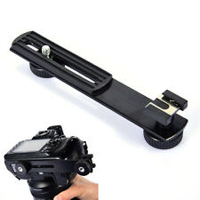 Camera Flash Hot Shoe Mount Arms Bracket Horizontal Slide Rail for DSLR SLR DC