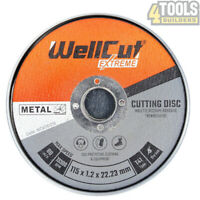 Wellcut Extreme Metal Cutting Disc 115x 1.2x 22.23mm in Metal Box (Pack of 10 )