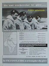 PUBLICITE RENAULT TRANSFLUIDE RAID MILITAIRE LAPONIE CAP BONNE ESPERANCE DE 1958