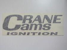 Crane Cams Ignition Sticker Decal New Drag Race Car Hot Rat Toolbox Mechanic Box