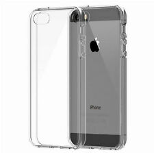 Ultra Thin Gel Rubber TPU Soft Case Cover Clear For iPhone 5 / 5S Free Screen pr