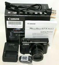 Canon Powershot G7X Mark II MKII 20.1 MP Digital Camera Black - Mint Free Ship!