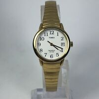 Timex Womens T9 Indiglo Weekender Gold Tone Date indicator Quartz Analog Watch