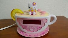 Hello Kitty Tea Cup Alarm Clock Radio Lemon Wedge No Longer Lights Up Pink 2003