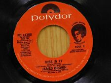 James Brown 45 Kiss In 77 bw Woman on Polydor