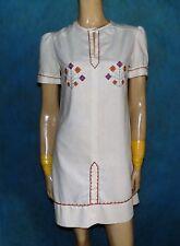 vestido / túnica auténtico vintage bordado modelo único 36/38 FR MUY BUEN ESTADO