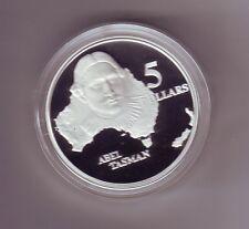 1993 $5 SILVER Proof Coin out Masterpieces Set Able Tasman Explorer