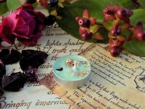 Wealth Money Handmade Spell  Candle Abundance Pagan Wicca  Powerful Magic