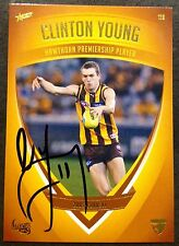 2011 SELECT AFL HAWTHORN HERITAGE CARD NO. 116 PERSONALLY SIGNED CLINTON YOUNG