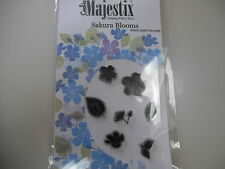 New Card-io Majestix Clear Stamps Peg Stamps Sakura Blooms