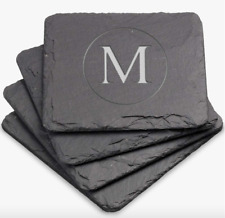Personalized Square Slate Coasters | Set of 4
