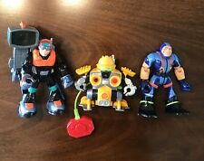 Vintage Fisher Price Rescue Heroes Action Figures Lot of 3 action figures