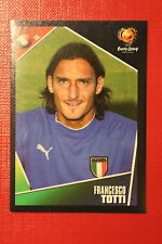 Panini EURO 2004 N. 237 ITALIA TOTTI  NEW With BLACK BACK TOPMINT!!