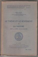 Le thème et le sentiment de la nature dans la poésie anglo-saxonne
