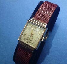 Ca1940s OTTO GRUN Watch 17J Swiss Movement 14k Pink Gold Case Dress Watch Unisex