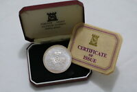 ISLE OF MAN CROWN 1977 JUBILLEE SILVER WITH COA B20 CG38 - 15