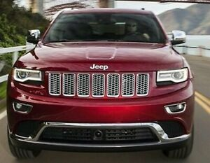 7x Chrome Front Grill Mesh Grille Insert for Jeep Grand Cherokee 2014-2016