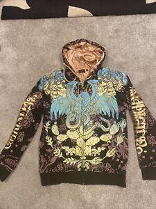 christian audigier hoodie  Cardigan Size M Vintage