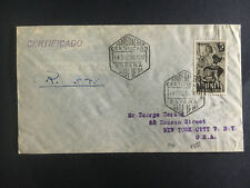 1950 Spain Ifni  Cover to USA Certified