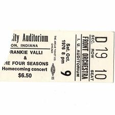 FRANKIE VALLI & BOB SEGER Concert Ticket Stub BLOOMINGTON IN 10/9/76 NIGHT MOVES