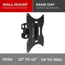 "DRX 23 - 42"" Tilt Swivel Compact TV Wall Mount Bracket LED LCD VESA 75 100 200mm"