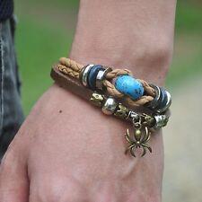 Bracelet Jewelry Bracelet  Cool Spider Bracelets Metal Studs Genuine Leather