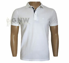 ARMANI EXCHANGE MEN'S POLO T SHIRT/ TEE BLACK/WHITE SPANDEX MIX S/M/L/XL Was £65