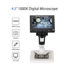 "4.3"" DM4 LED 1000X Zoom Digital Microscope Camera For PCB Motherboard Repairing"