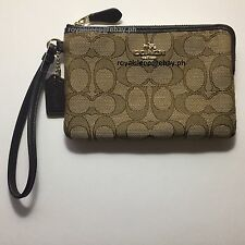 COACH Outline Signature Corner Zip Wristlet **Brand New w/ Tag** Wallet Purse