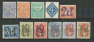 Nederland  110 - 120 ongebruikt; tweede keus