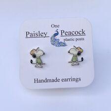 Snoopy Earrings Golfer