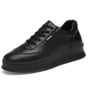 8cm Invisible Height Shoe Men Sneakers Athletic Lace Up Taller Elevator Increase