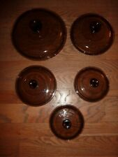 Visions Cookware Pyrex Corning Amber Lids Choice Free Shipping