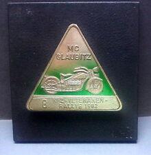 Plakette Motorclub Glaubitz 1982 Motorrad
