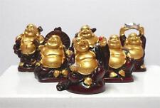 "6 Cutie 2"" Happy Chinese Buddha Fortune Monk"