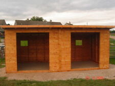 24 FT X 12FT WOODEN PENT  FIELD SHELTER PRICE £1450  NO ADDED VAT
