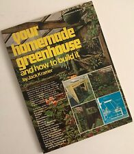 Your Homemade Greenhouse and How to Build It by Jack Kramer